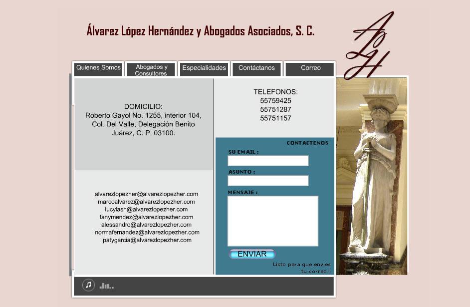 Álvarez López Hernández Abogados Asociados Contacto