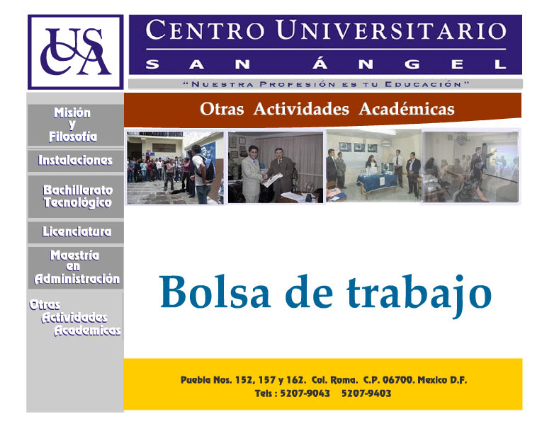 Centro Universitario San Angel Bolsa de Trabajo
