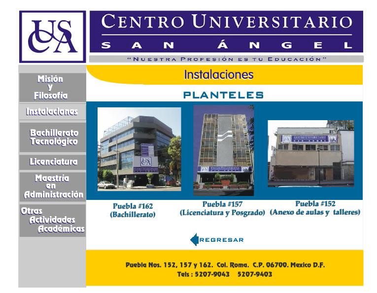 Centro Universitario San Angel Instalaciones