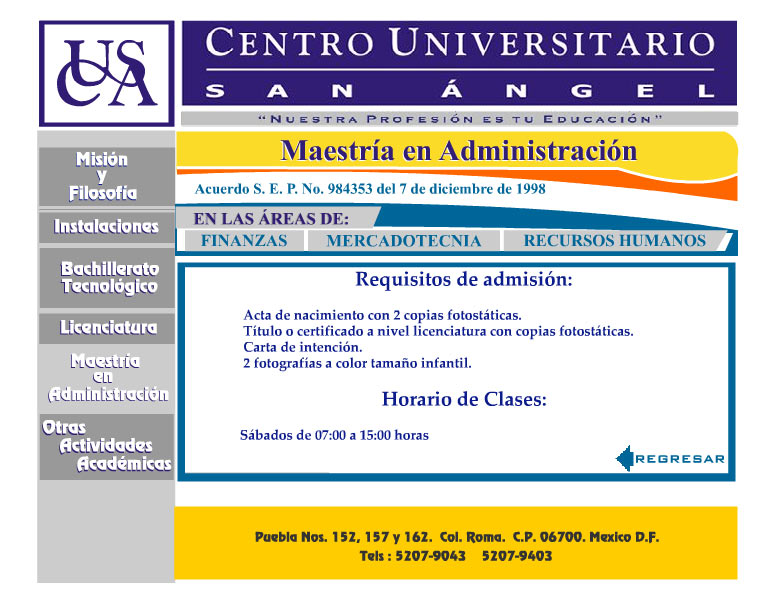 Centro Universitario San Angel Maestrias