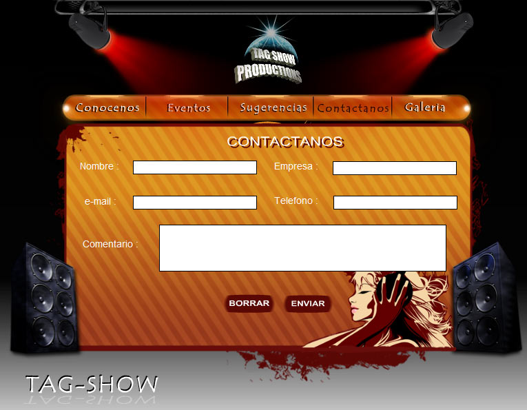 Tag Show Productions Contactanos